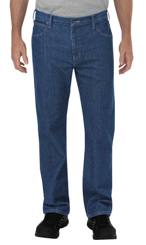 Dickies Mens Indigo Blue Flex 5-Pocket Carpenter Tough Denim Jean