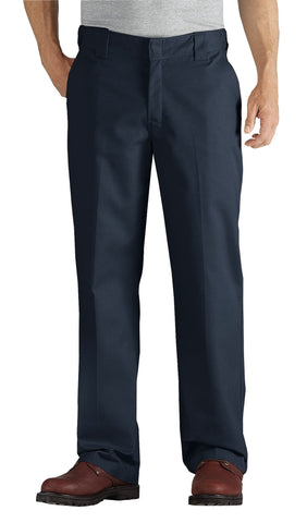 Dickies Mens Dark Navy Flex Straight Leg Twill Comfort Waist Pants