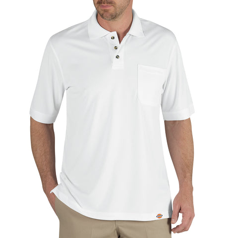 Dickies Mens White S/S Industrial Performance Polo