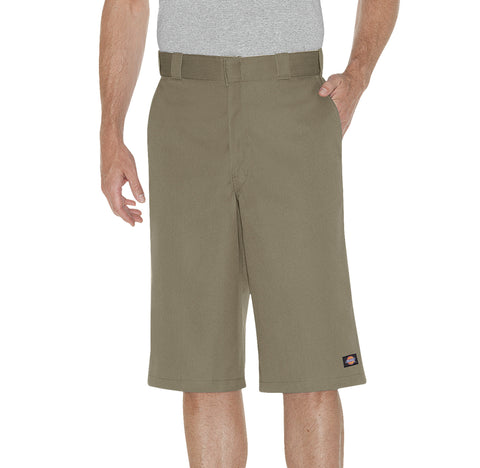 Dickies Mens Khaki 15In Loose Fit Multi-Use Pocket Work Short