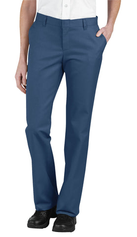 Dickies Womens Navy Womens Relaxed Fit Flat Front Pants