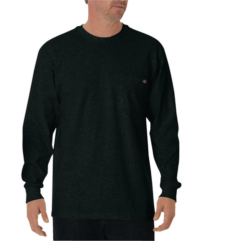 Dickies Mens Hunter Green L/S Long Sleeve Heavyweight Crew Neck Tee
