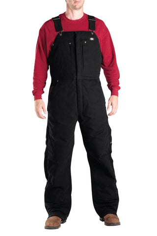 Dickies Mens Black Sanded Duck Insulated Bib Overall