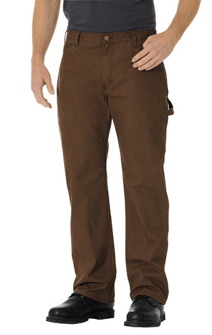 Dickies Mens Rinsed Timber Straight Leg Carpenter Duck Jeans
