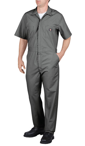 Dickies Mens Gray Short Sleeve Coverall