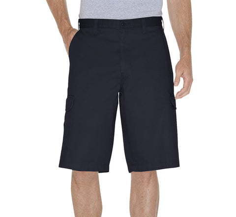 Dickies Mens Rinsed Dark Navy 13In Loose Fit Cargo Short