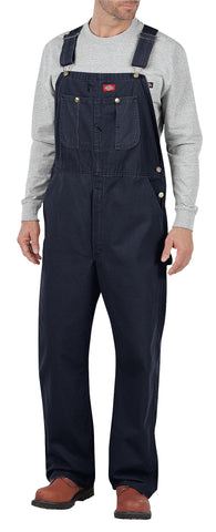 Dickies Mens Rinsed Indigo Blue Bib Overalls