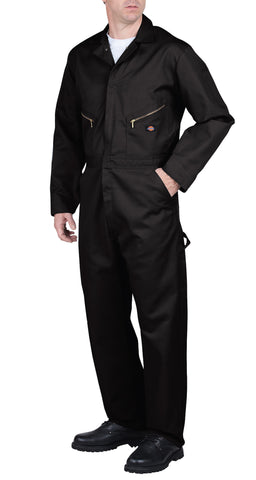 Dickies Mens Black Deluxe Blended Coverall