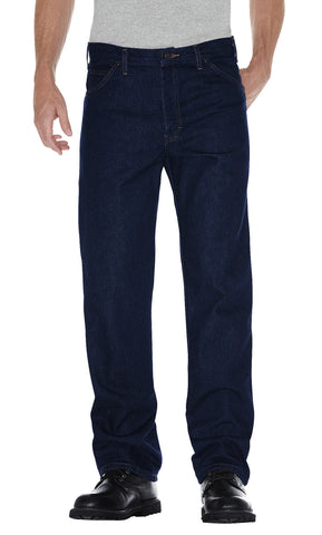 Dickies Mens Indigo Blue Regular Straight Fit 5-Pocket Denim Jean