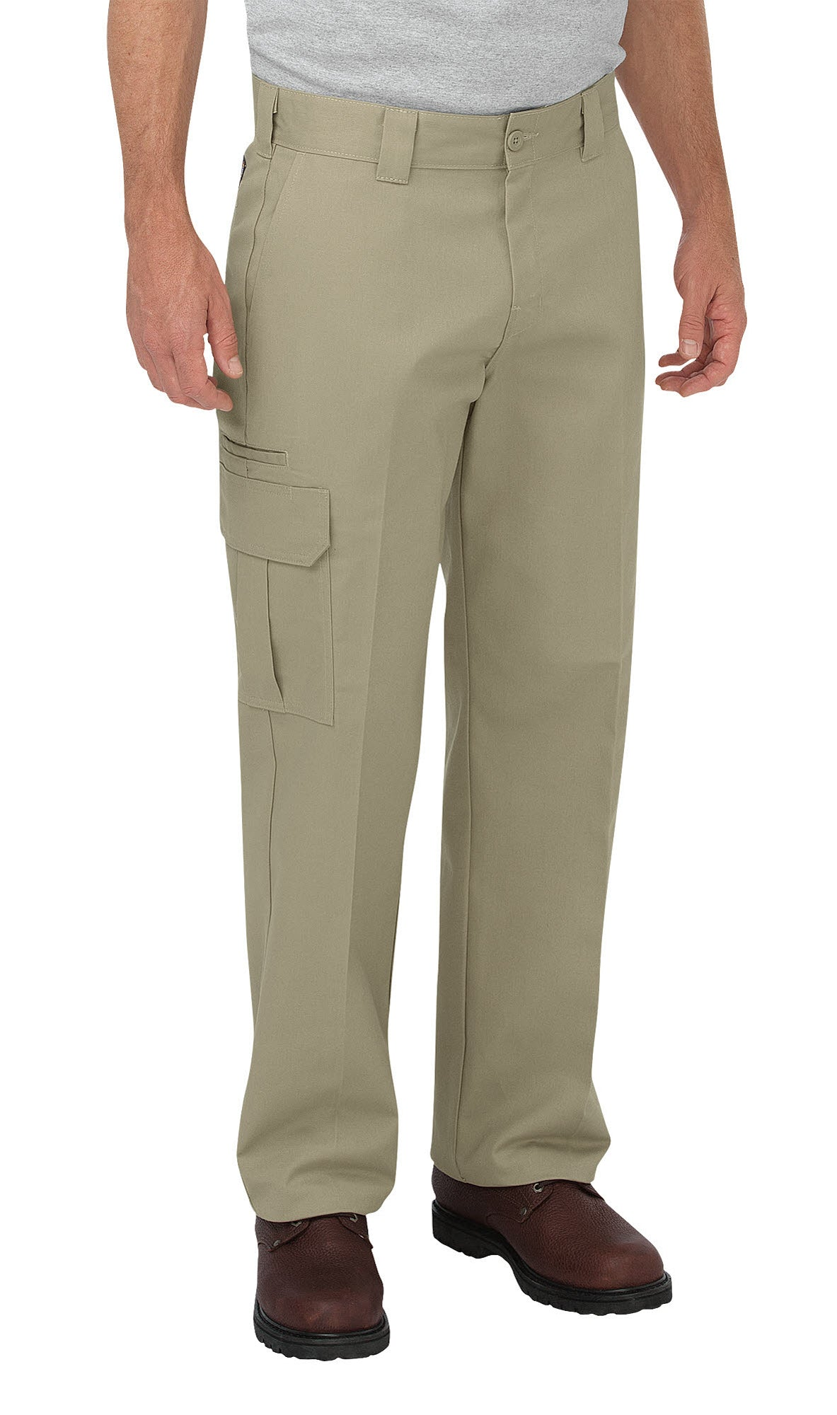 abb9f527409 Dickies Mens Desert Sand Flex Relaxed Fit Straight Leg Cargo Pants ...