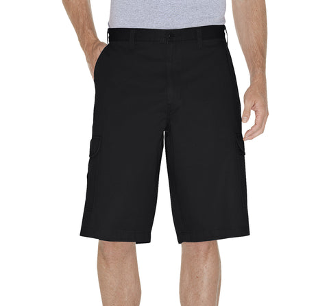 Dickies Mens Rinsed Black 13In Loose Fit Cargo Short