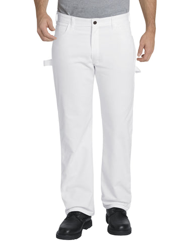 Dickies Mens White Flex Relaxed Fit Straight Leg Painters Pants