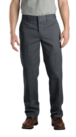 Dickies Mens Charcoal Mens Slim Fit Straight Leg Work Pants