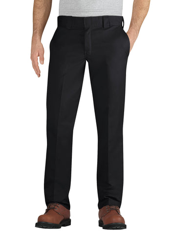 Dickies Mens Black Flex Slim Fit Taper Leg Multi-Use Pocket Work Pant