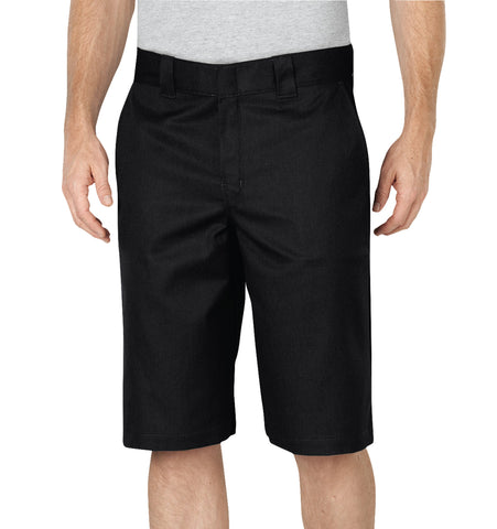 Dickies Mens Black Flex 13In Relaxed Fit Work Short