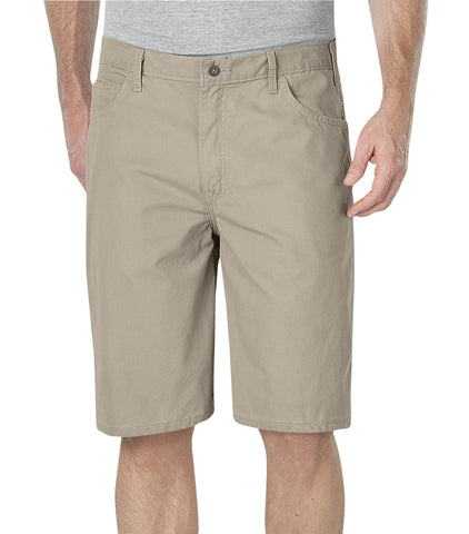 Dickies Mens Rinsed Desert Sand 11In Lightweight Duck Carpenter Shorts