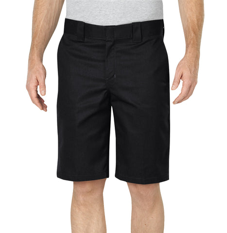 Dickies Mens Black Flex 11In Relaxed Fit Work Short