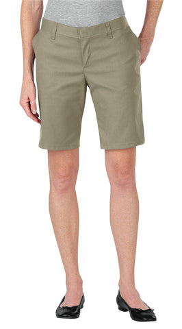Dickies Womens Desert Sand Womens 9In Relaxed Fit Flat Front Shorts
