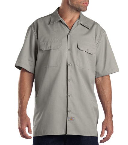 Dickies Mens Silver S/S Short Sleeve Work Shirt