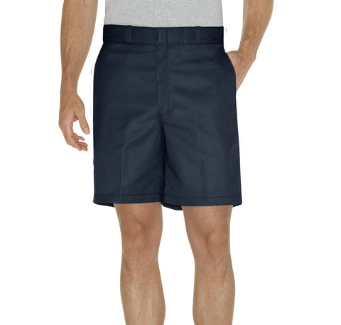 Dickies Mens Dark Navy 8In Relaxed Fit Traditional Flat Front Shorts