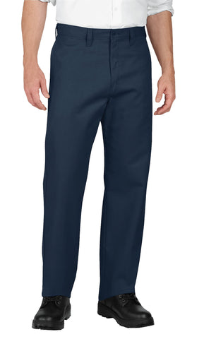 Dickies Mens Navy Industrial Flat Front Pants
