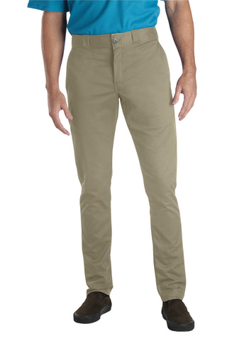 Dickies Mens Desert Sand Flex Skinny Straight Fit Work Pant
