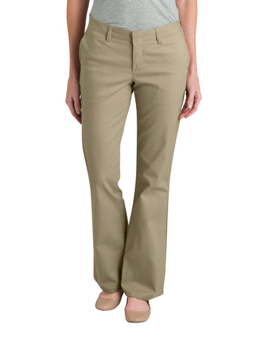 Dickies Womens Desert Sand Boot Cut Stretch Twill Pants