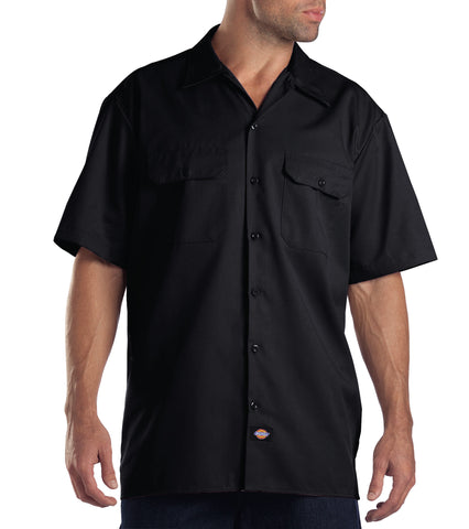 Dickies Mens Black S/S Short Sleeve Work Shirt
