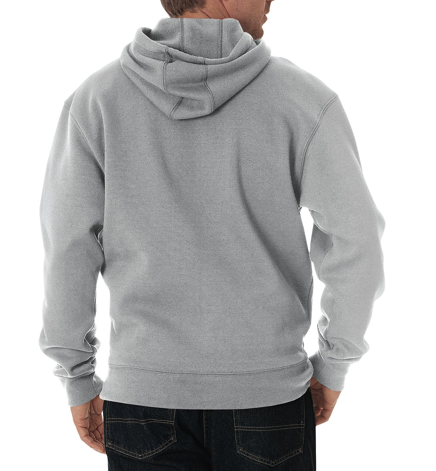 6508522011 Dickies Mens Heather Gray Midweight Fleece Pullover Hoodie – The ...