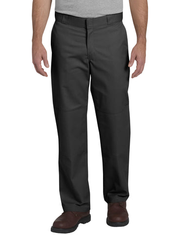 Dickies Mens Black Flex Straight Leg Double Knee Work Pants