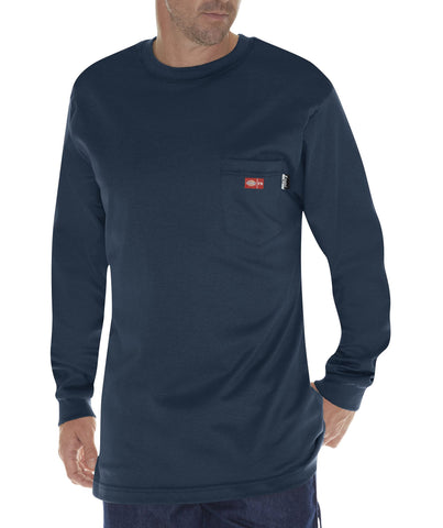 Dickies Mens Navy L/S Flame-Resistant Long Sleeve Tee