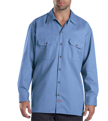 Dickies Mens Gulf Blue L/S Long Sleeve Work Shirt