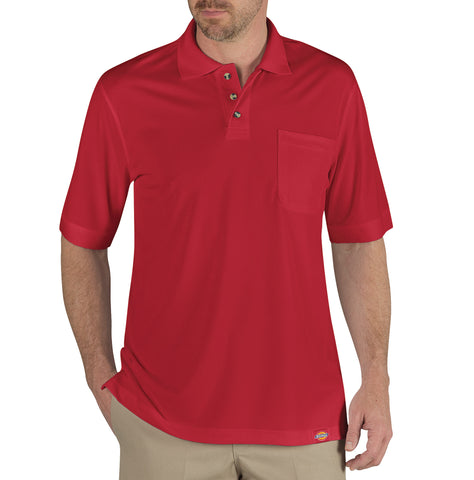 Dickies Mens English Red S/S Industrial Performance Polo