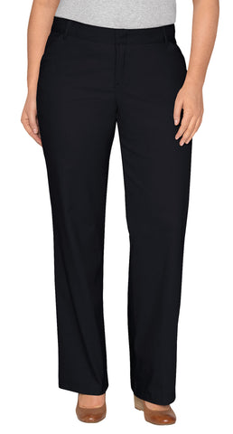 Dickies Womens Black Plus Straight Leg Stretch Twill Pants