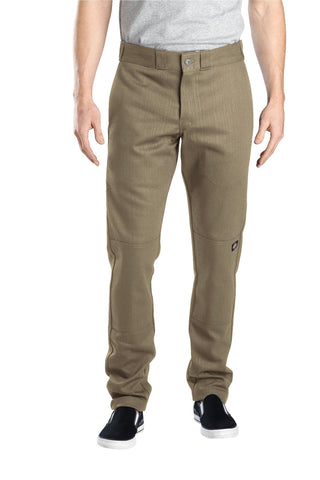 Dickies Mens Desert Sand Flex Skinny Fit Double Knee Work Pant