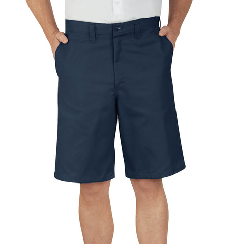 Dickies Mens Navy 11In Industrial Flat Front Short
