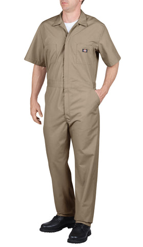 Dickies Mens Khaki Short Sleeve Coverall