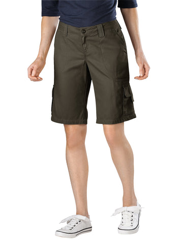 Dickies Womens Rinsed Grape Leaf 11In Cotton Cargo Short