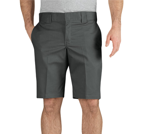 Dickies Mens Gravel Gray Flex 11In Slim Fit Work Shorts