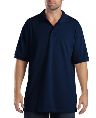 Dickies Mens Dark Navy S/S Adult Sized Short Sleeve Pique Polo Shirt
