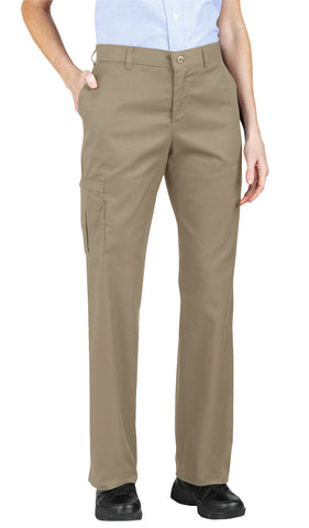 Dickies Womens Khaki Womens Premium Relaxed Straight Cargo Pants