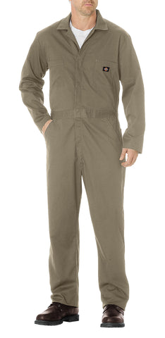 Dickies Mens Khaki Basic Cotton Coveralls