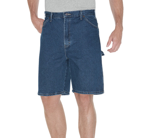 Dickies Mens Indigo Blue 9.5In Relaxed Fit Carpenter Shorts