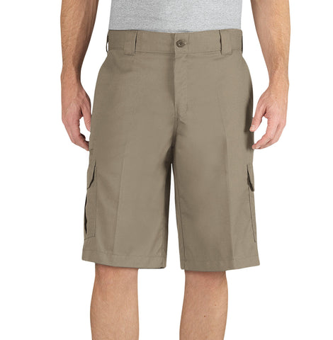 Dickies Mens Desert Sand Flex 13In Relaxed Fit Cargo Short