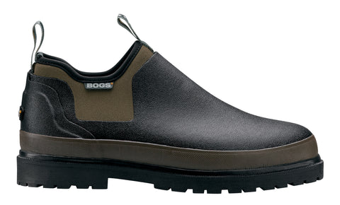 Bogs Mens Black Rubber Tillamook Bay WP Slip-On Shoes