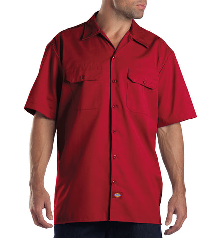 Dickies Mens English Red S/S Short Sleeve Work Shirt