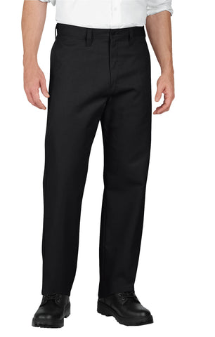 Dickies Mens Black Industrial Flat Front Pants