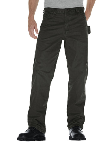 Dickies Mens Rinsed Moss Green Straight Leg Carpenter Duck Jean