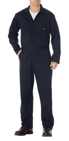 Dickies Mens Dark Navy Basic Cotton Coveralls