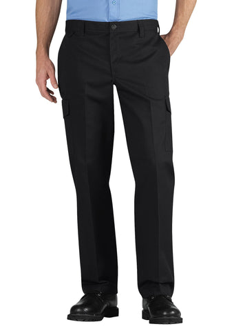 Dickies Mens Black Industrial Relaxed Fit Straight Leg Cargo Pants